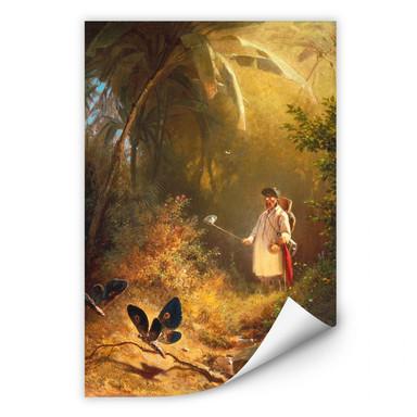 Wallprint Spitzweg - Der Schmetterlingsfänger