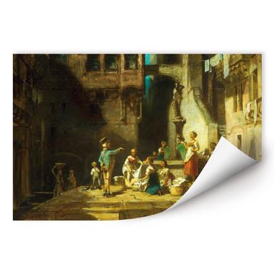 Wallprint Spitzweg - Wäscherinnen am Brunnen
