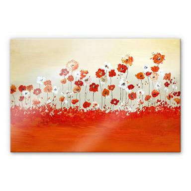 Acrylglasbild Melz - Fröhliche Blumen - 60x40cm - Bild 1