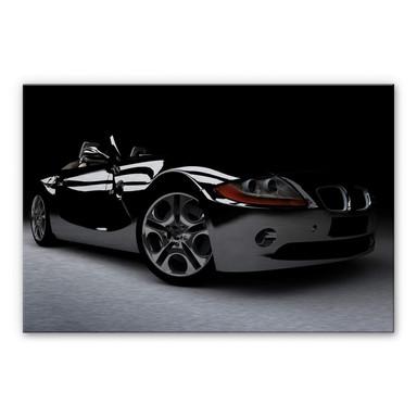 Alu Dibond Bild Black Car