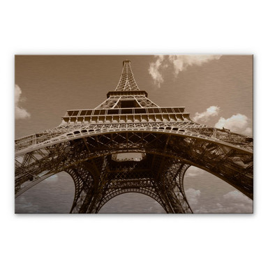 Alu Dibond Bild Eiffelturm Perspektive