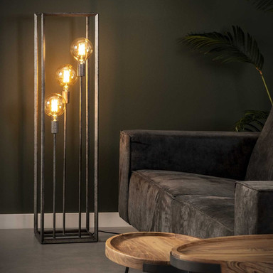 famlights | Stehleuchte Lewis in Altsilber E27