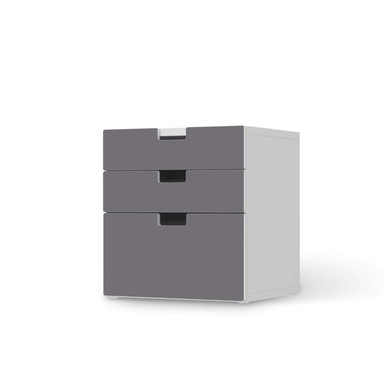 Folie IKEA Stuva / Malad Kommode - 3 Schubladen - Grau Light