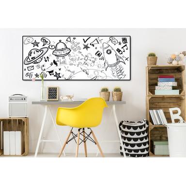 Folie Whiteboard - selbstklebend - 150x45cm - Bild 1