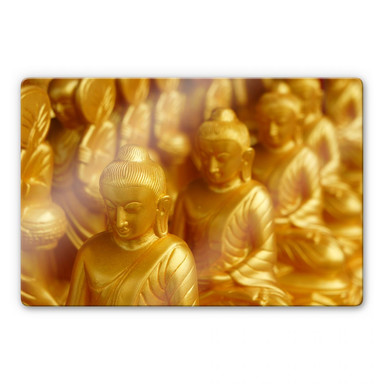 Glasbild Golden Buddha