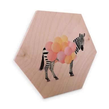Hexagon - Holz Birke-Furnier Fuentes - Zebra Balloon