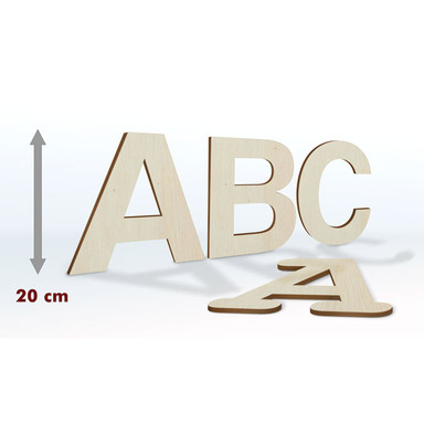 Holzbuchstaben 20 cm Buchstabenhöhe