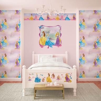 Mustertapete Papiertapete Disney Princess - Prinzessinnen - Bild 1