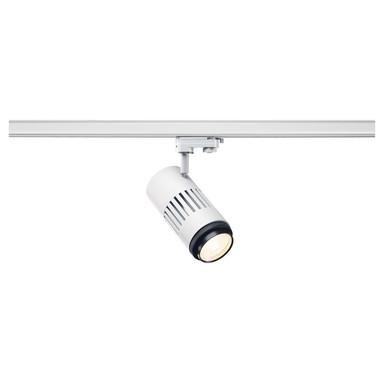 Structec LED Zooming Lens Strahler für 3Phasen Hochvolt-Stromschiene, 3000K, weiss, 20-60°, inkl. 3 Phasen-Adapter