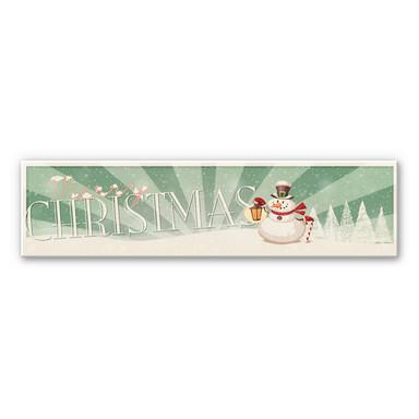 Hartschaum-Dekoschild Merry Christmas