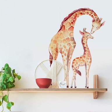Wandtattoo Kvilis - Mutterliebe Giraffe
