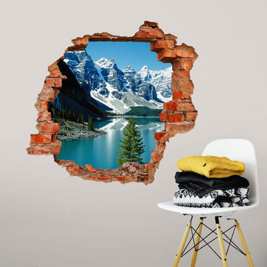 3D Wandtattoo Bergsee Idylle