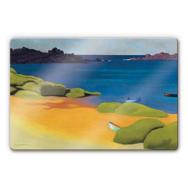 Glasbild Felix Vallotton - Die Bucht von Tregastel
