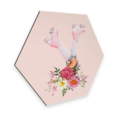 Hexagon - Alu-Dibond Fuentes - Roller Flowers