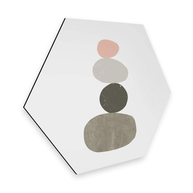 Hexagon - Alu-Dibond Nouveauprints - Pebbles 1