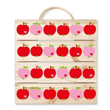 Holzbild byGraziela - Apfel rot