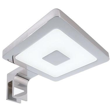LED Spiegelleuchte Eckig II in Silber und Chrom 4.5W 300lm 4000K IP44