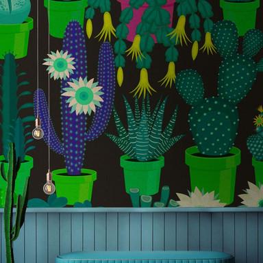 Livingwalls Fototapete Walls by Patel 2 cactus garden 2 - Bild 1