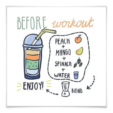 Poster Before Workout - quadratisch