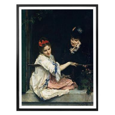 Poster Garreta - Zwei Mädchen am Fenster