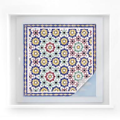 Sichtschutzfolie Orientalische Kacheln 01 - quadratisch