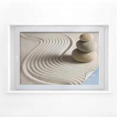 Sichtschutzfolie Stone in Sand 2