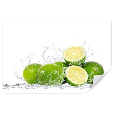 Wallprint Splashing Limes