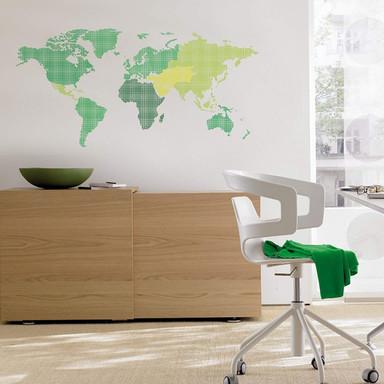 Wandsticker Weltkarte - Bild 1