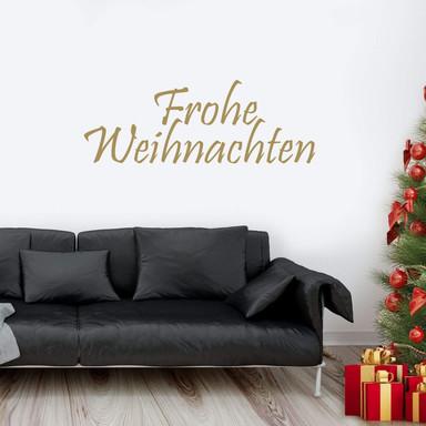 Wandtattoo Frohe Weihnachten