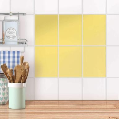 Fliesensticker unifarben - Gelb Light
