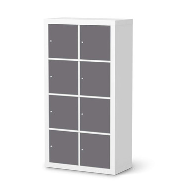 Folie IKEA Kallax Regal 8 Türen - Grau Light- Bild 1