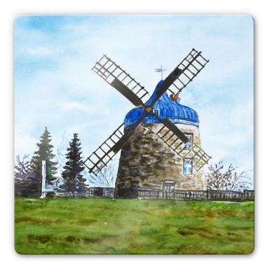 Glasbild Toetzke - Traditionelle Windmühle - quadratisch