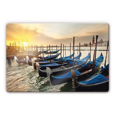 Glasbild Venezianische Gondeln