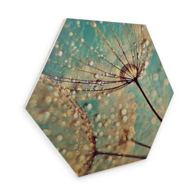 Hexagon - Holz Birke-Furnier Delgado – Magische Pusteblume
