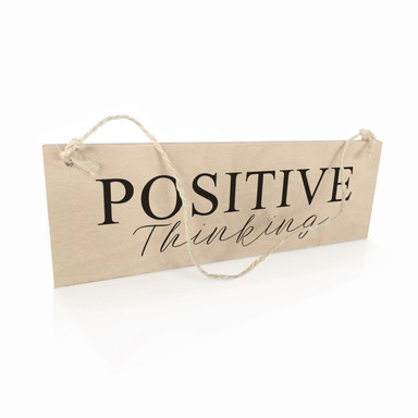 Holzschild Positive Thinking