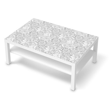 Klebefolie IKEA Lack Tisch 118x78cm - Flower Lines 2- Bild 1