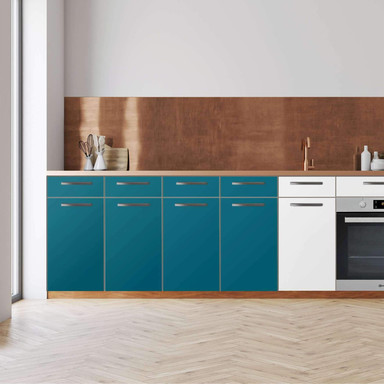 Küchenfolie - Unterschrank 160cm Breite - Türkisgrün Dark