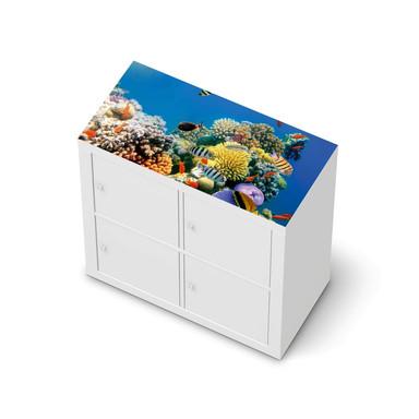 Möbelfolie IKEA Expedit Regal oben - Coral Reef