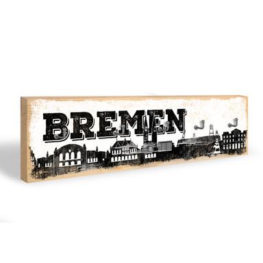 Schlüsselbrett Bremen Skyline + 5 Haken