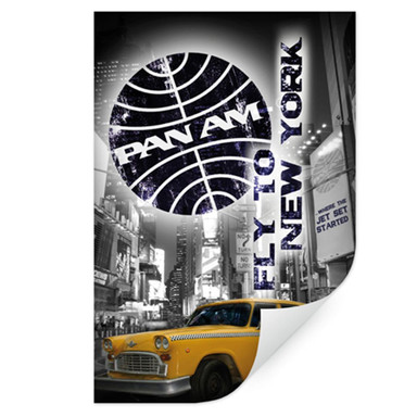 Wallprint PAN AM - New York Yellow Taxi Cab