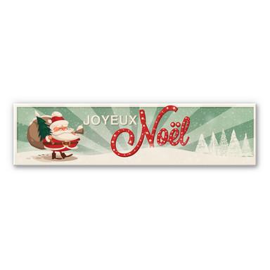 Hartschaum-Dekoschild Joyeux Noel