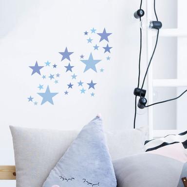 Wandtattoo - Sterne Set Pastellblau - Bild 1