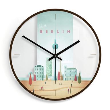 Wanduhr aus Glas - Rivers - Berlin Ø30cm - Bild 1