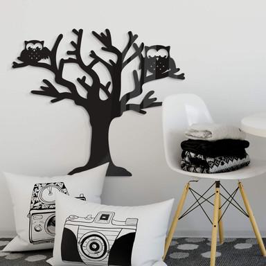 Acryldeko Baum mit Eulen