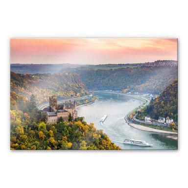 Acrylglasbild Colombo - Der Rhein im Herbst