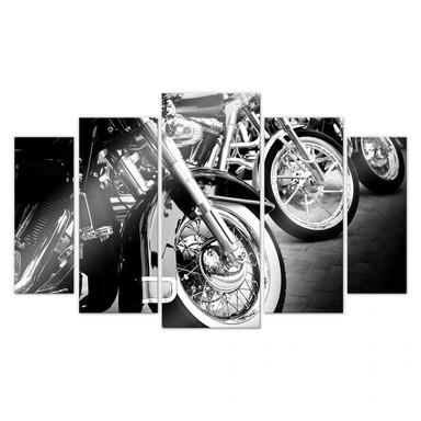 Acrylglasbild Motorcycle Wheels (5-teilig)