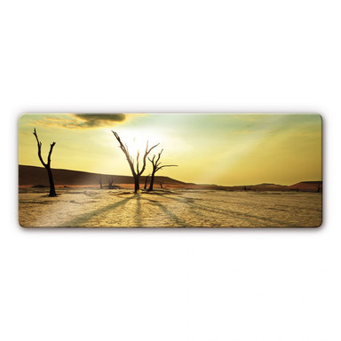 Glasbild Desert Valley Panorama