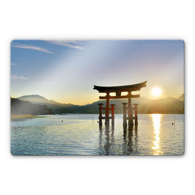 Glasbild Itsukushima Schrein