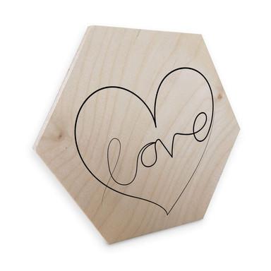 Hexagon - Holz Birke-Furnier Hariri - Love Lines