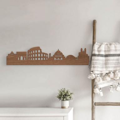 Holzkunst Mahagoni Furnier - Skyline Rom